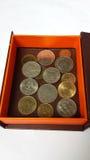 Siamesische Münzen stockfotos