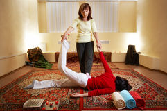 Siamesische Massage lizenzfreies stockbild
