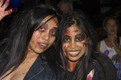 Siamesische Mädchen feiert Halloween am 31. Oktober 2010 Lizenzfreies Stockfoto