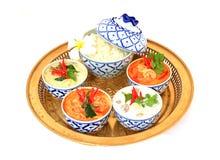 Siamesische Nahrung auf einem weißen Hintergrund. Lizenzfreie Stockfotos