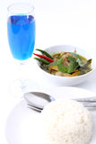 Siamesische Nahrung des grünen Currys. Stockfotografie