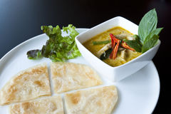 Siamesische Nahrung des Roti Currys Lizenzfreies Stockbild