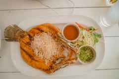 Siamesische Nahrung - Stirfischrogen #6 Lizenzfreie Stockbilder