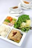 Siamesische Nahrungsmittel und Aperitifs Stockbild
