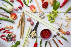 Siamesische Nahrungsmittelbestandteile lizenzfreies stockfoto