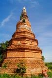 Siamesische Pagode im ayutthaya Lizenzfreies Stockfoto