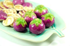 Siamesische purpurrote Aubergine stockfotografie