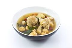 Siamesische Teller - würzige Suppe lizenzfreie stockbilder