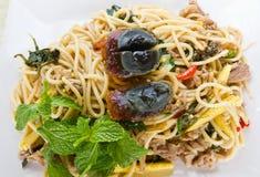 Siamesische würzige Nahrungsmittelnudel Stockfoto