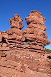 Siamesische Zwilling-Felsen-Anordnung Stockfotografie