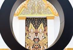 Siamesischer Anstrich der Kunst im Tempel, Thailand. Lizenzfreies Stockfoto