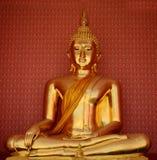 Siamesischer Buddha golden Lizenzfreies Stockfoto