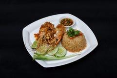 Siamesischer gebratener Reis Stockfotografie