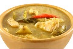 Siamesischer grüner Curry stockfotografie