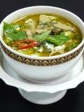 Siamesischer grüner Curry mit Huhn Stockfotos