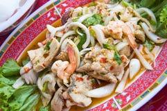 Siamesischer Meerestier-Salat stockbilder