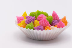 Siamesischer süßer Nachtisch Aalaw-Süßigkeit gemacht vom Weizenmehl, Kichererbse Lizenzfreie Stockbilder