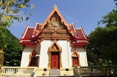 Siamesischer Tempel bei Sangklaburi Lizenzfreies Stockbild