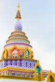 Siamesischer Tempel im Hügel Lizenzfreie Stockfotografie