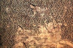 Siamesischer traditioneller Anstrich auf der Wand Stockfotos