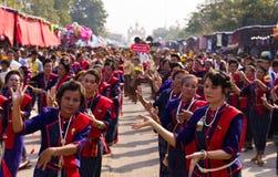 Siamesischer traditioneller Tanz lizenzfreies stockfoto