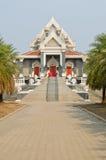 Siamesisches Artgebäude in der Saraburi Provinz Stockbilder