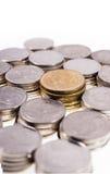 Siamesisches Bad der Münze im weißen Hintergrund Lizenzfreie Stockfotografie