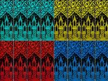 Siamesisches Kunst abtract Muster Stockbild