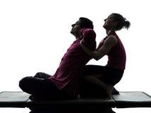 Siamesisches Massageschattenbild Stockbild