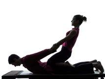 Siamesisches Massageschattenbild Lizenzfreies Stockfoto