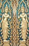 Siamesisches strukturiertes Gatter bei Wat Sirisaotong stockbilder