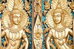 Siamesisches strukturiertes Gatter bei Wat Sirisaotong Lizenzfreie Stockfotografie