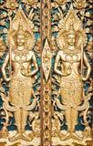 Siamesisches strukturiertes Gatter bei Wat Sirisaotong Stockbild