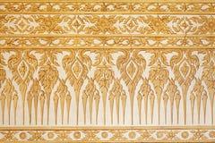 Siamesisches traditionelles klassisches Muster auf Tempelwand Stockfotos