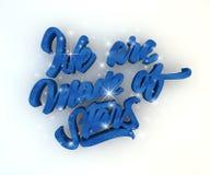 Siamo fatti delle stelle 3D-text illustrazione di stock