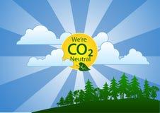 Siamo persona neutrale del carbonio (CO2) (paesaggio) Immagine Stock