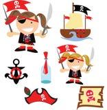 Siamo pirati al mare royalty illustrazione gratis