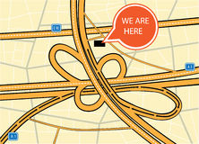Siamo qui mappa Fotografia Stock