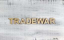 Siamo in una guerra commerciale immagine stock libera da diritti