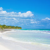 Sian Ka'an UN Biosphere Beach, Yucatan, Mexico. The United Nations has designated Sian Ka'an as a biosphere including over 500,000 hectares of coastline, beaches stock image