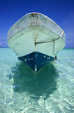 Sian kaan and boat in mexico Royalty Free Stock Images