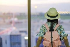 Sian pasażer w lotniska międzynarodowego termina obrazy royalty free