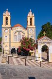 Siana church. Rhodes, Greece. Church of St. Panteleimon in Siana was built over 400 years ago. Rhodes, Dodecanese Islands, Greece, Europe stock images