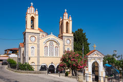 Siana church. Rhodes, Greece Royalty Free Stock Photo