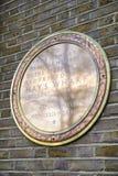 Siana Galleria Wojenna Pamiątkowa plakieta w Londyn Zdjęcia Stock