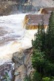 Siana Louise Rzeczni spadki w bliźniaku Spadają wąwozu Terytorialny park, północnych zachodów terytorium, NWT, Kanada zdjęcia royalty free