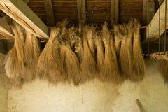 Siana obwieszenie od lakowania w ecomusee w Alsace Zdjęcia Stock