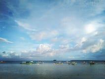 Siargao Beach Del pillar royalty free stock images