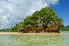 Siargao Coast. View of Siargao Island in the Pacific Ocean, Philippines Royalty Free Stock Photography