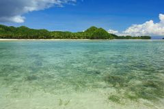 Siargao Coast. View of Siargao Island in the Pacific Ocean, Philippines Royalty Free Stock Photos
